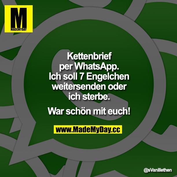 Kettenbrief whatsapp liebes WhatsApp: Kettenbriefe