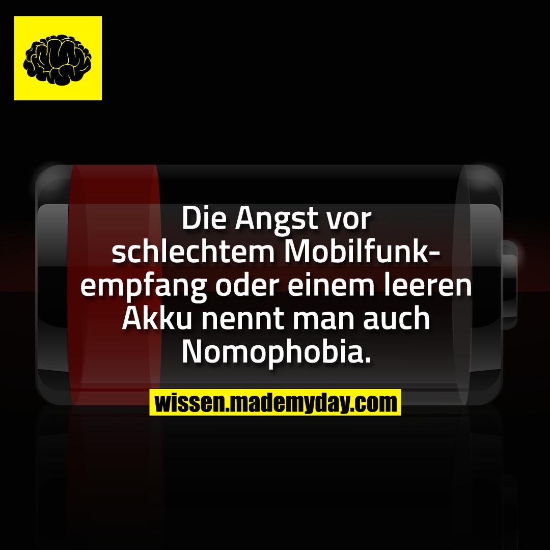 Die Angst vor schlechtem Mobilfunkempfang oder einem leeren Akku nennt man auch Nomophobia.