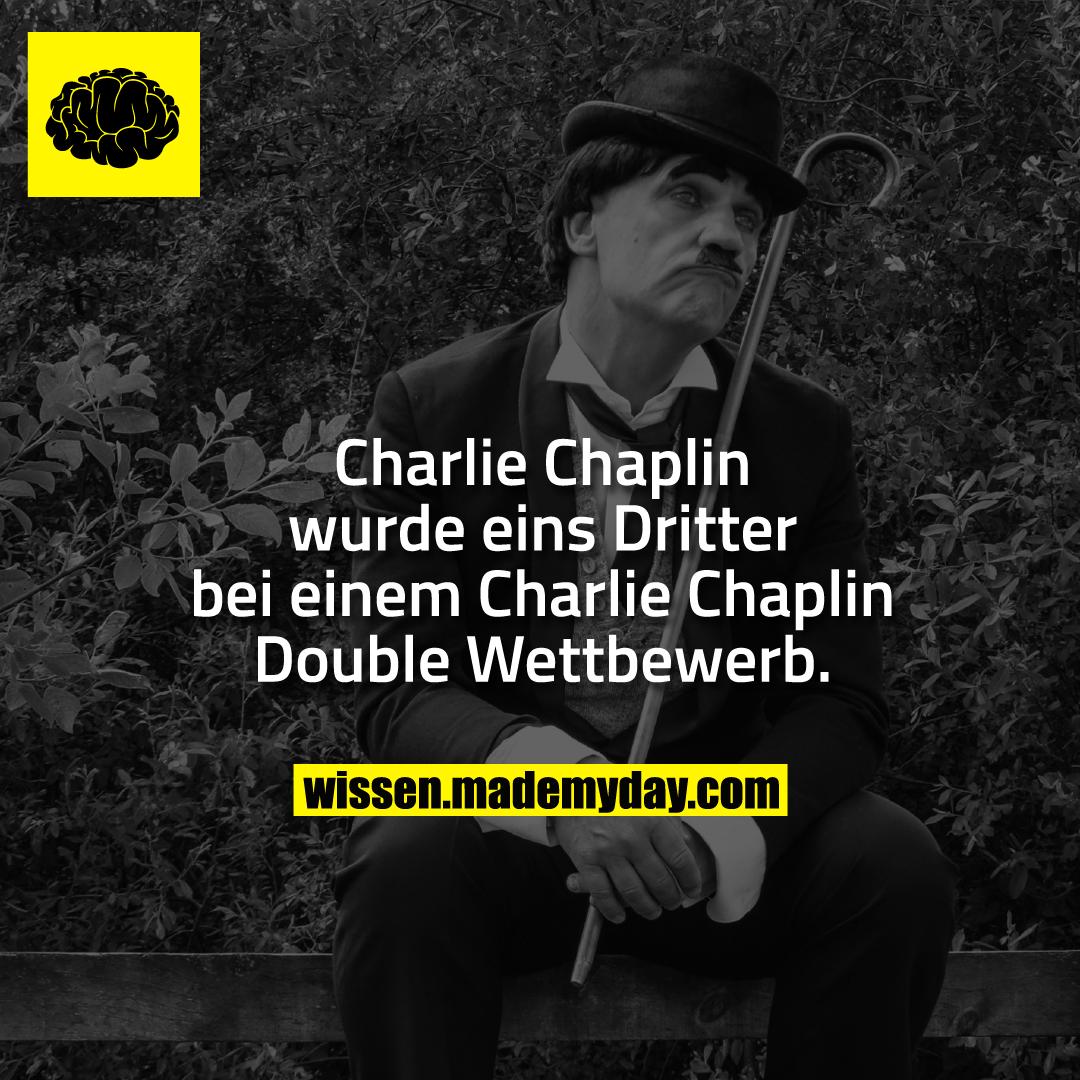 Charlie Chaplin wurde eins Dritter bei einem Charlie Chaplin Double Wettbewerb.