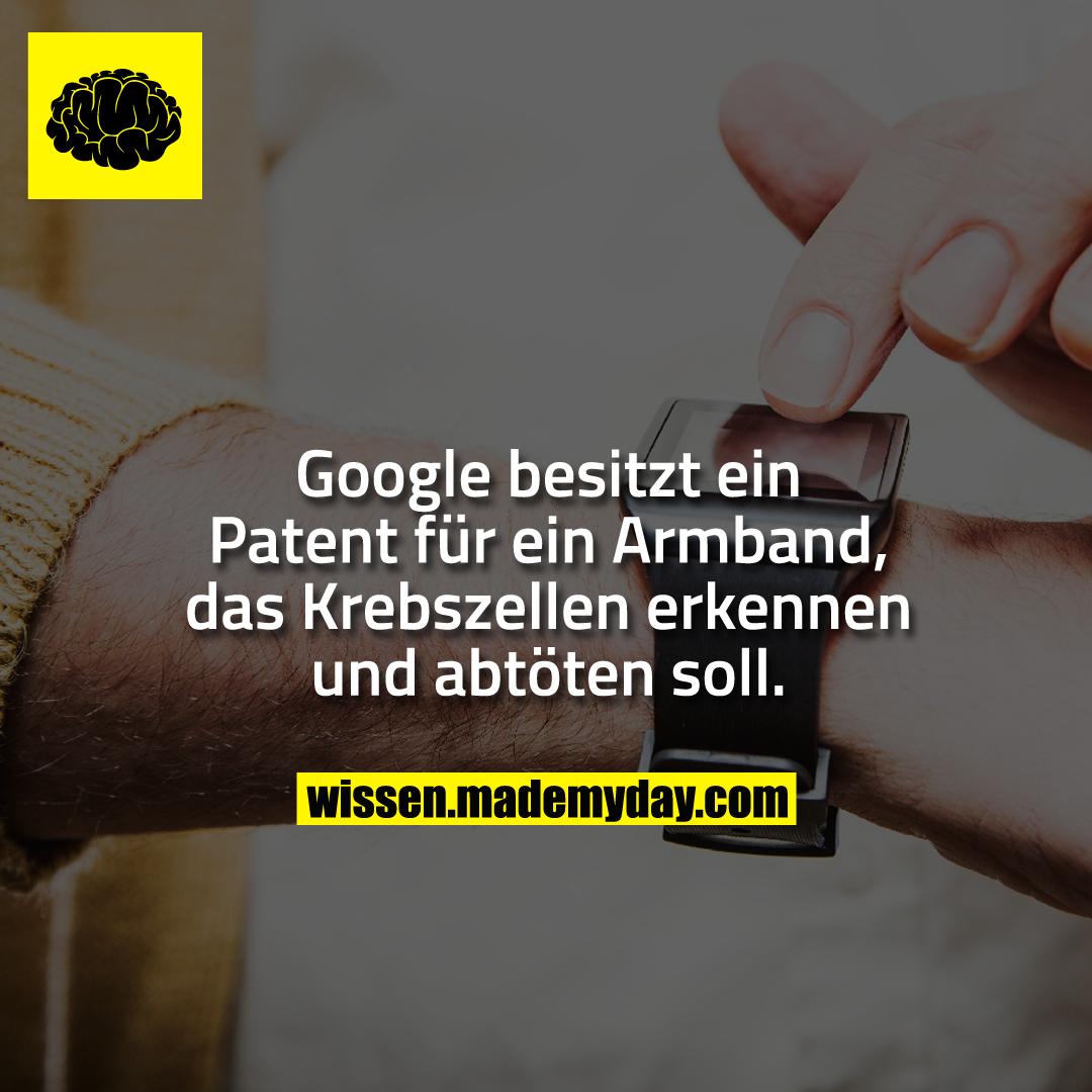 Google besitzt ein Patent für ein Armband, das Krebszellen erkennen und abtöten soll.