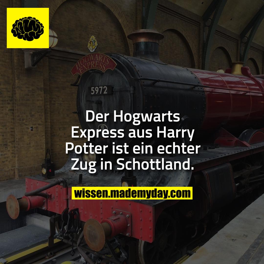 Der Hogwarts Express aus Harry Potter ist ein echter Zug in Schottland.
