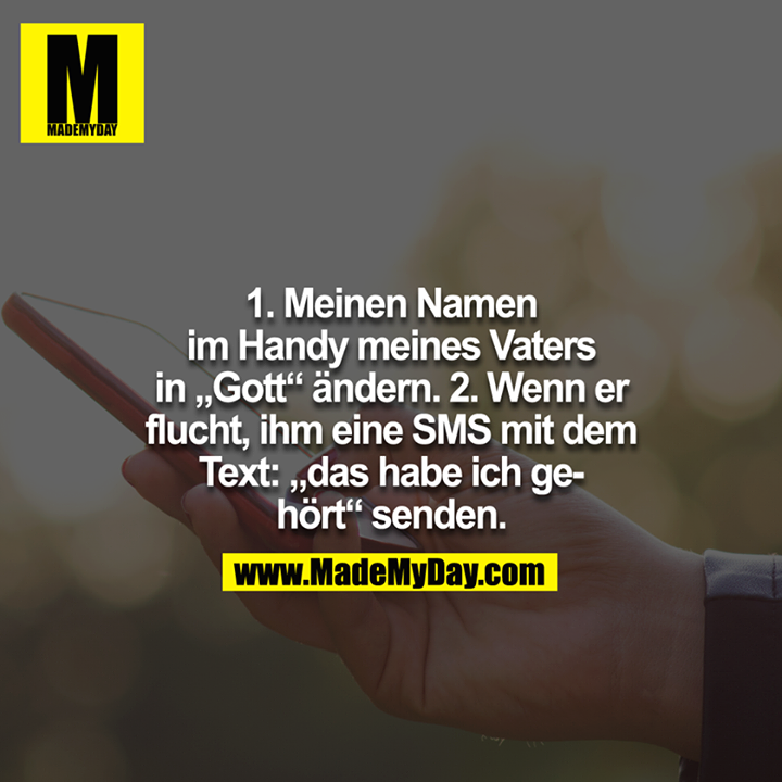 1. Meinen Namen im Handy - Made My Day