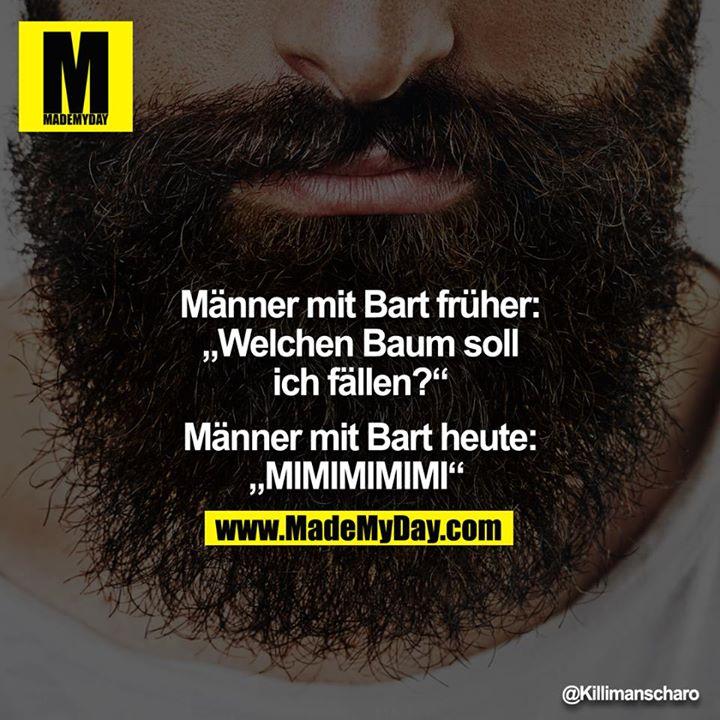 """Männer mit Bart früher: """"Welchen Baum soll ich fällen?"""" - Männer mit Bart heute: """"MIMIMIMIMI"""""""