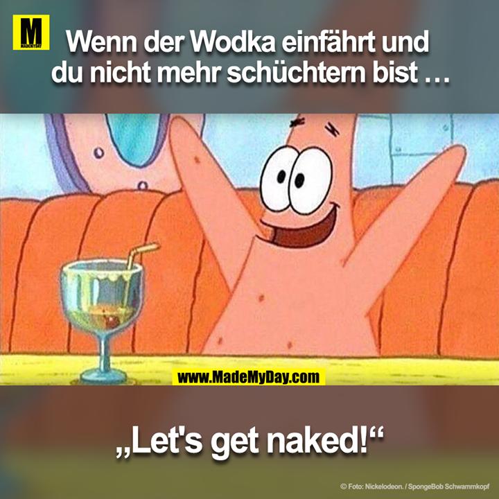"""Wenn der Wodka einfährt und du nicht mehr schüchtern bist …<br /> """"Let's get naked!"""""""