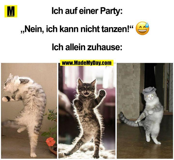 """Ich auf einer Party:<br /> """"Nein, ich kann nicht tanzen!"""" ?<br /> Ich allein zuhause:"""