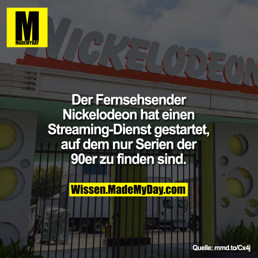 Der Fernsehsender Nickelodeon hat einen<br /> Streaming-Dienst gestartet, auf dem nur Serien der 90er zu finden sind.