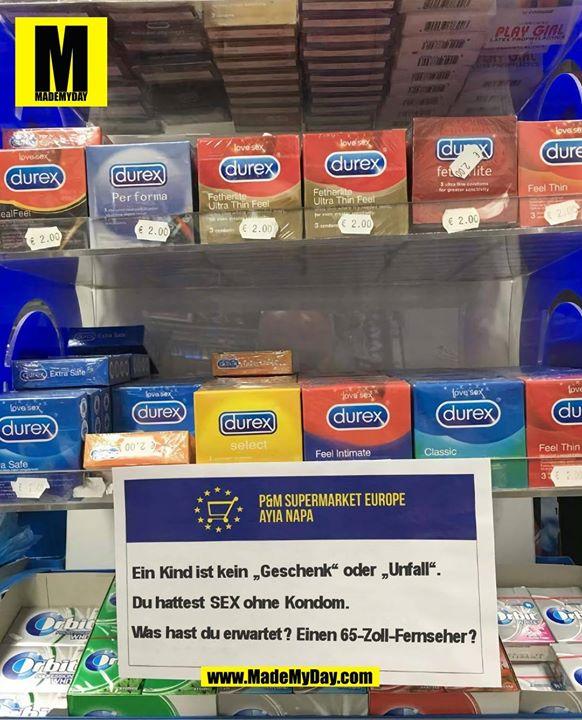 """Ein Kind ist kein """"Geschenk"""" oder """"Unfall"""".<br /> Du hattest SEX ohne Kondom.<br /> Was hast du erwartet? Einen 65-Zoll-Fernseher?"""