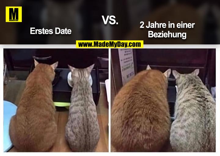 Erstes Date VS. 2 Jahre in einer Beziehung