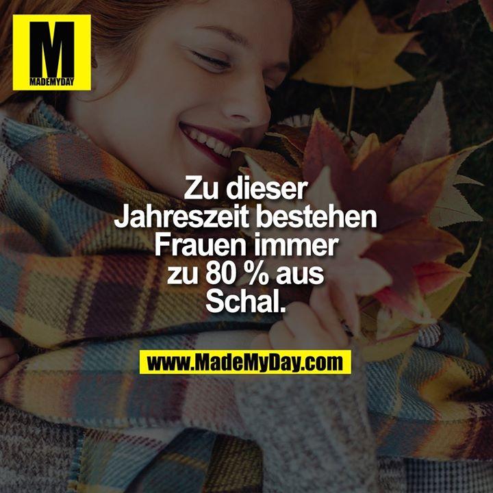 Zu dieser Jahreszeit bestehen Frauen immer zu 80 % aus Schal.
