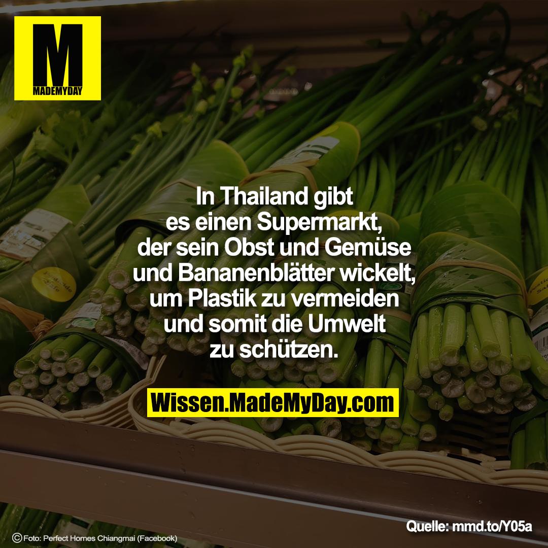 In Thailand gibt es einen Supermarkt, der sein Obst und Gemüse und Bananenblätter wickelt, um Plastik zu vermeiden und somit die Umwelt zu schützen.<br /> <br /> mmd.to/Y05a