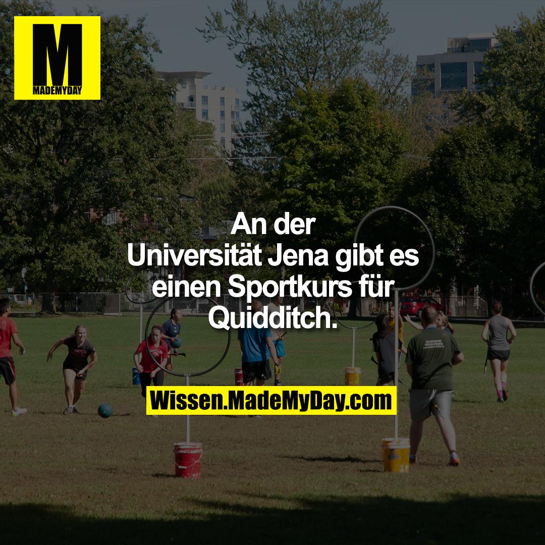 An der Universität Jena gibt es einen Sportkurs für Quidditch.