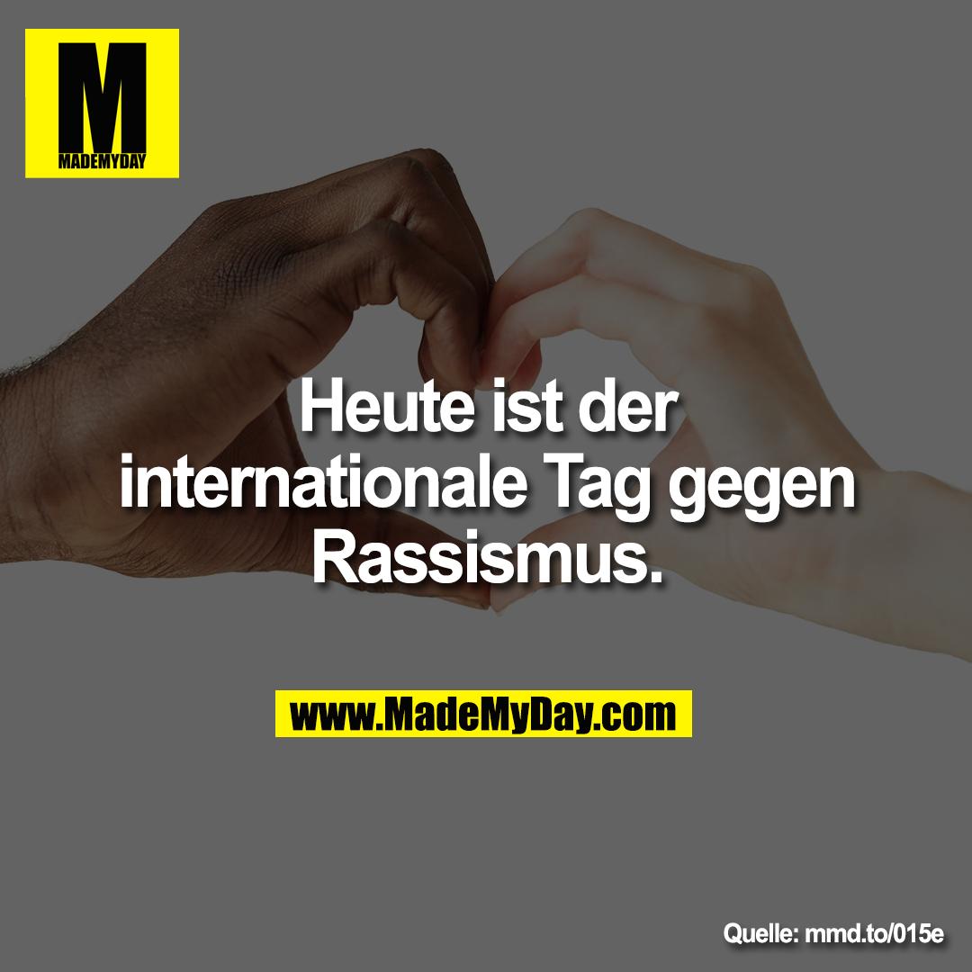 Heute ist der internationale Tag gegen Rassismus.<br /> mmd.to/015e