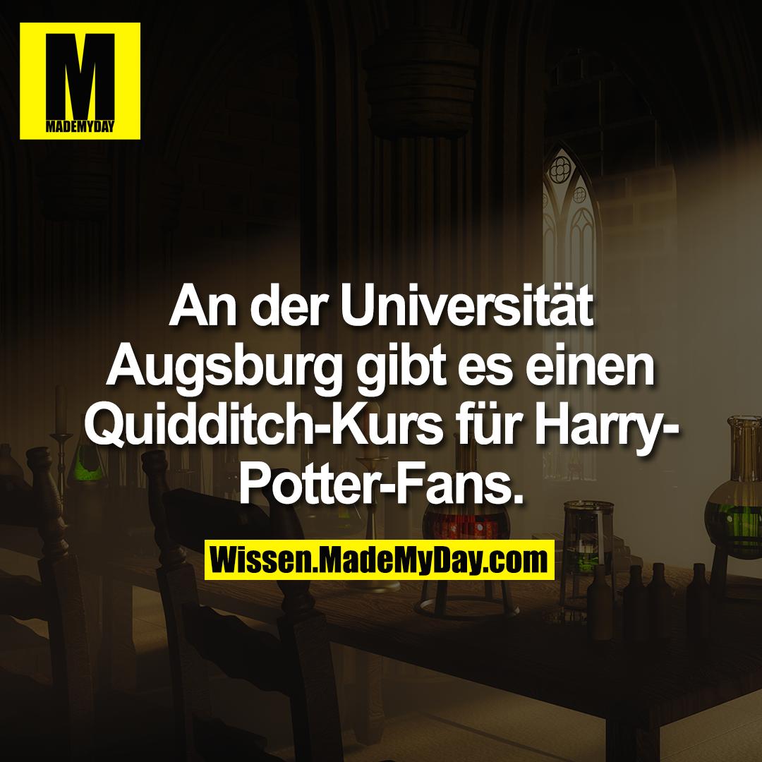 An der Universität Augsburg gibt es einen Quidditch-Kurs für Harry-Potter-Fans.