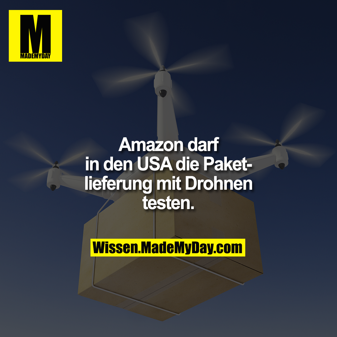 Amazon darf in den USA die Paketlieferung mit Drohnen testen.