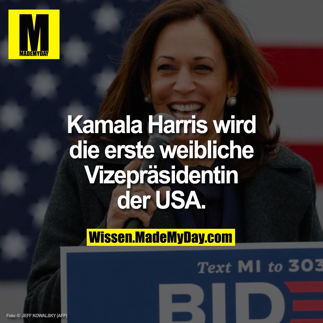 Kamala Harris wird die erste weibliche Vizepräsidentin der USA.
