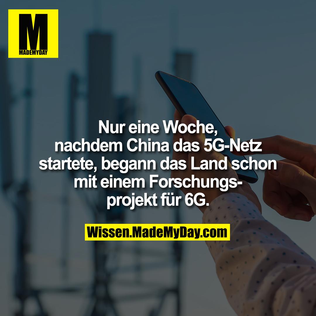 Nur eine Woche, nachdem China das 5G-Netz startete, begann das Land schon mit einem Forschungsprojekt für 6G.