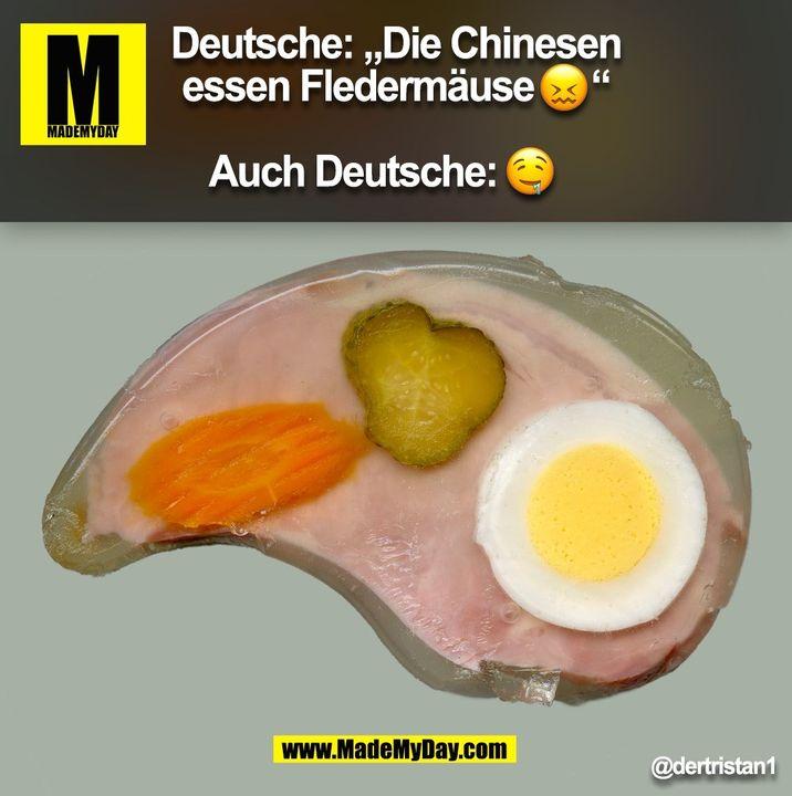 """Deutsche: """"Die Chinesen essen Fledermäuse"""" @dertristan1 (BILD)"""