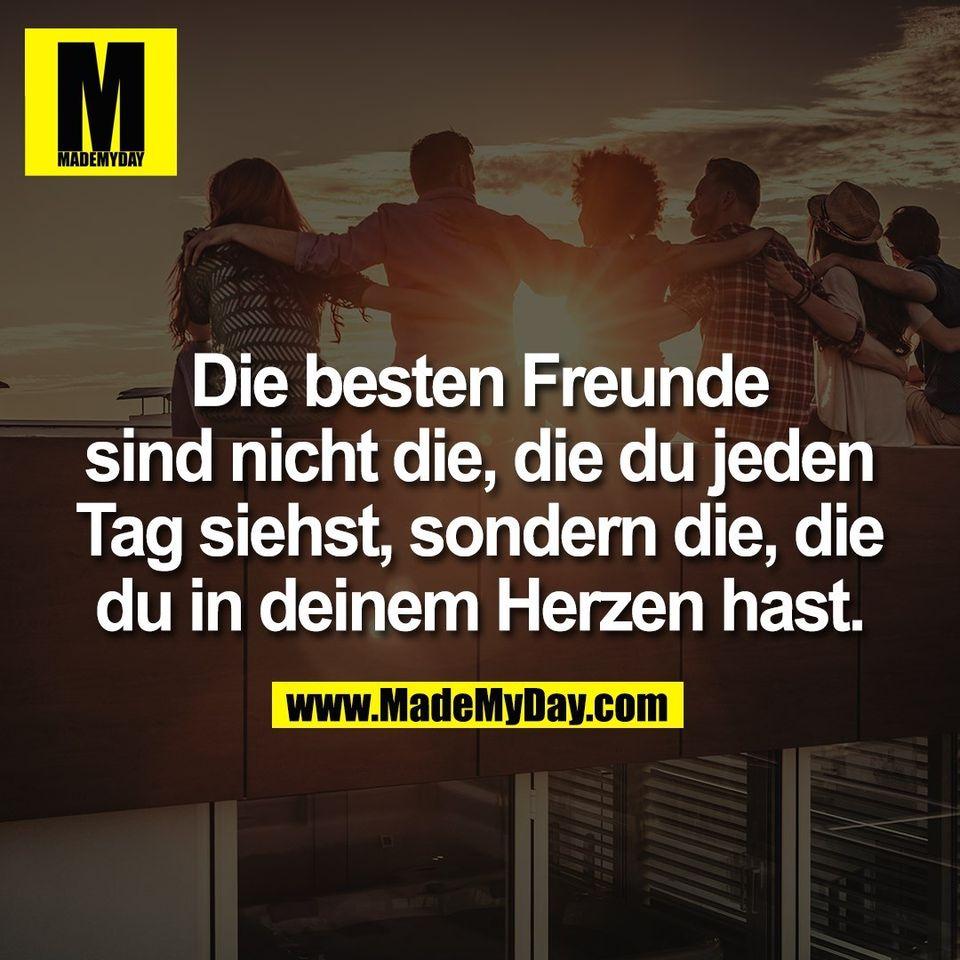 Die besten Freunde<br /> sind nicht die, die du jeden<br /> Tag siehst, sondern die, die<br /> du in deinem Herzen hast.