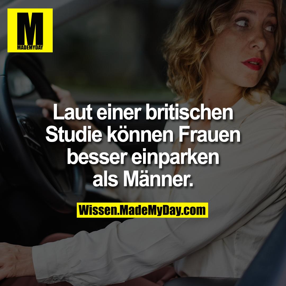 Laut einer britischen Studie können Frauen besser einparken als Männer.