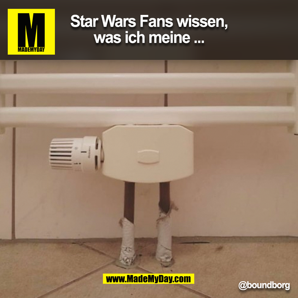 Star Wars Fans wissen,<br /> was ich meine ... @boundborg (BILD)