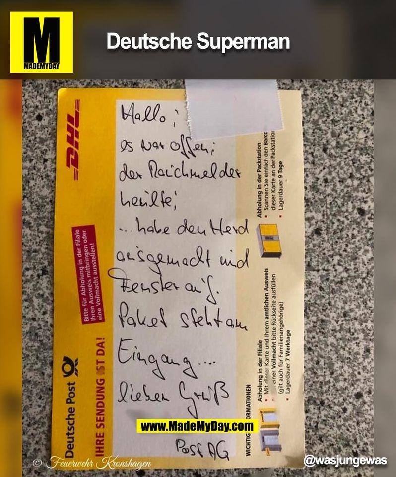 Deutsche Superman<br /> @wasjungewas<br /> (BILD)