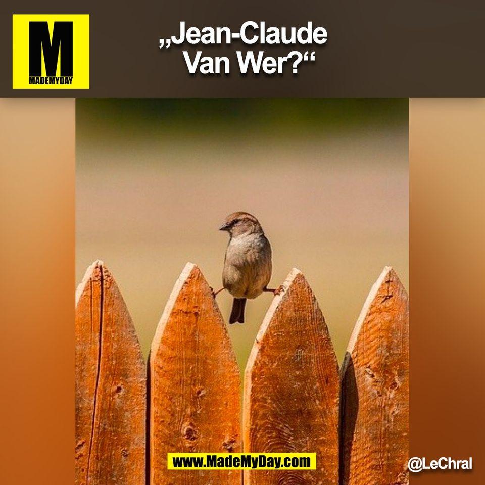 """Jean-Claude Van Wer?""<br /> @LeChral<br /> (BILD)"