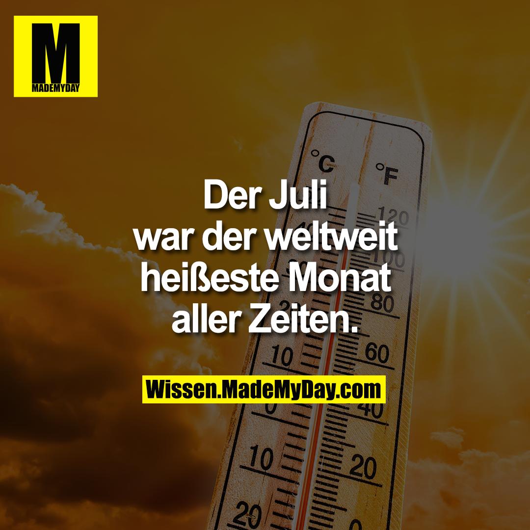 Der Juli war der weltweit heißeste Monat aller Zeiten.