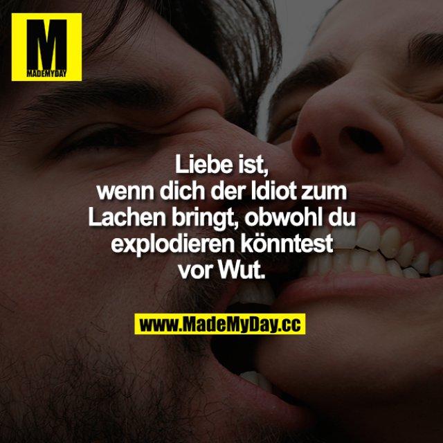 Liebe ist,<br /> wenn dich der Idiot zum Lachen bringt, obwohl du explodieren könntest vor Wut.