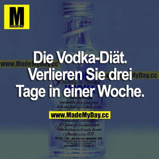 Die Vodka-Diät. Verlieren Sie drei Tage in einer Woche.