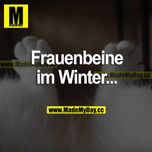 Frauenbeine im Winter...