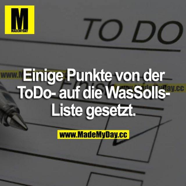 Einige Punkte von der ToDo- auf die WasSolls-Liste gesetzt.