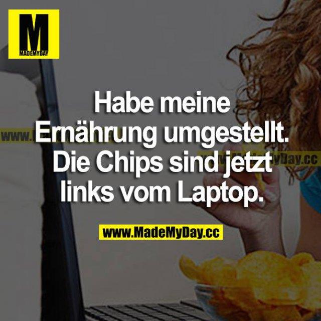 Habe meine Ernährung umgestellt. Die Chips sind jetzt links vom Laptop.