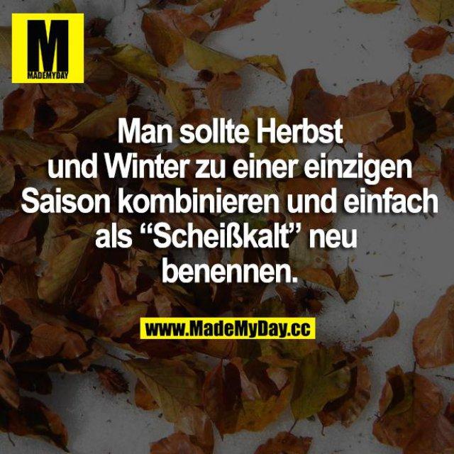 """Man sollte Herbst und Winter zu einer einzigen Saison kombinieren und einfach als """"Scheißkalt"""" neu benennen."""