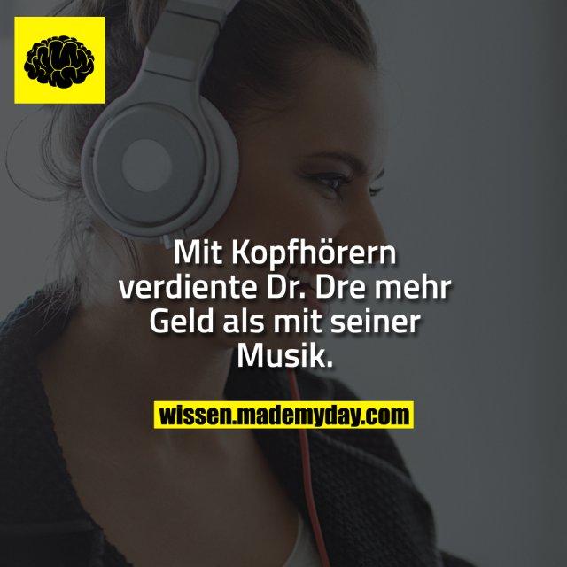 Mit Kopfhörern verdiente Dr. Dre mehr Geld als mit seiner Musik.