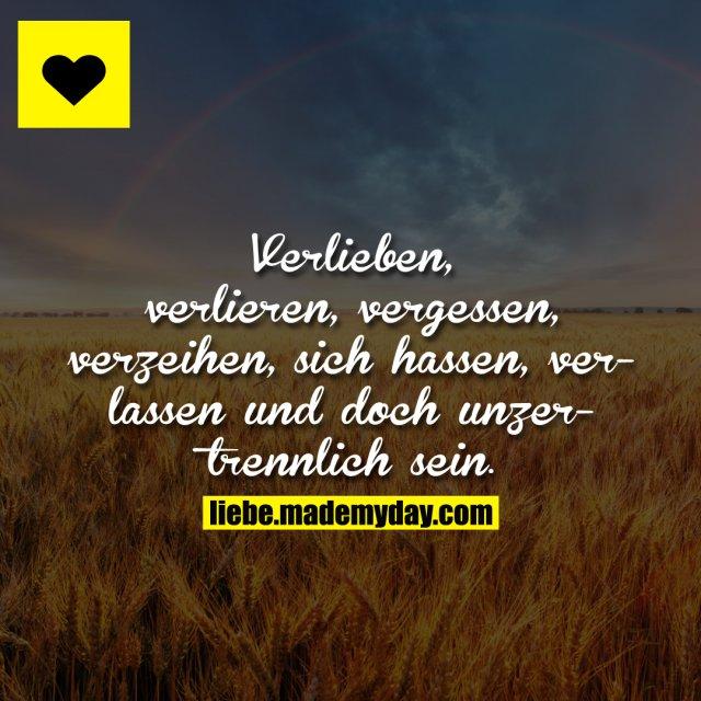 Verlieben, verlieren, vergessen, verzeihen, sich hassen, verlassen und doch unzertrennlich sein.