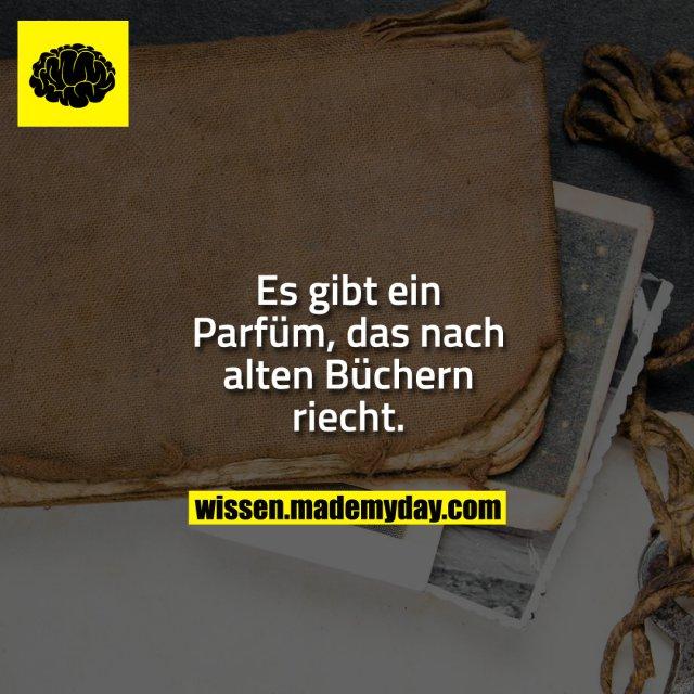 Es gibt ein Parfüm, das nach alten Büchern riecht.