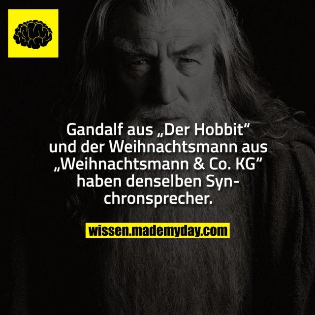 """Gandalf aus """"Der Hobbit"""" und der Weihnachtsmann aus """"Weihnachtsmann & Co. KG"""" haben denselben Synchronsprecher."""