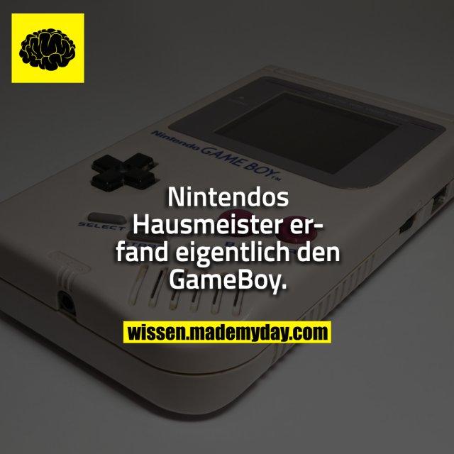 Nintendos Hausmeister erfand eigentlich den GameBoy.
