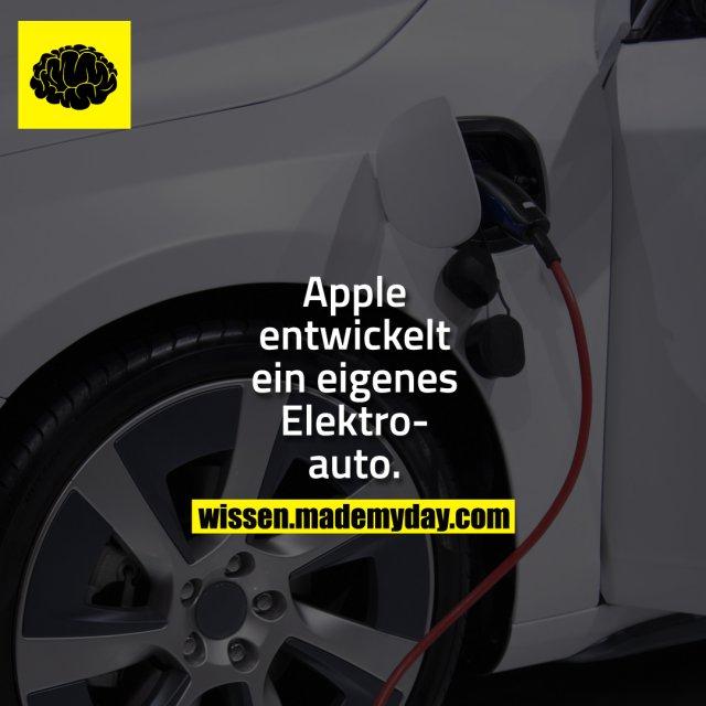 Apple entwickelt ein eigenes Elektroauto.
