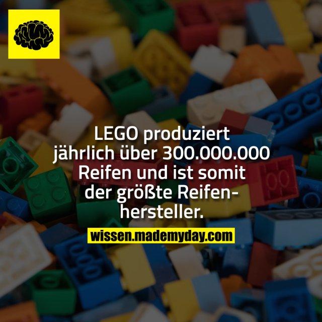 LEGO produziert jährlich über 300.000.000 Reifen und ist somit der größte Reifenhersteller.