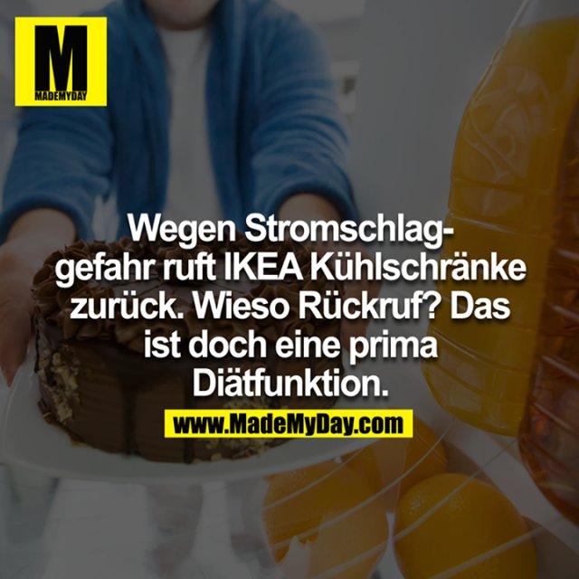 Wegen Stromschlaggefahr ruft Ikea Kühlschränke zurück: Wieso Rückruf? Das ist doch eine prima Diätfunktion<br />