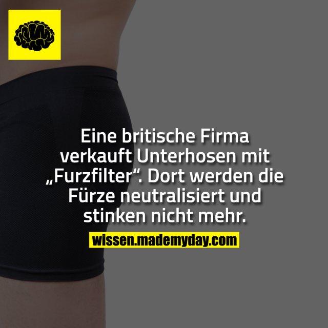 """Eine britische Firma verkauft Unterhosen mit """"Furzfilter"""". Dort werden die Fürze neutralisiert und stinken nicht mehr."""
