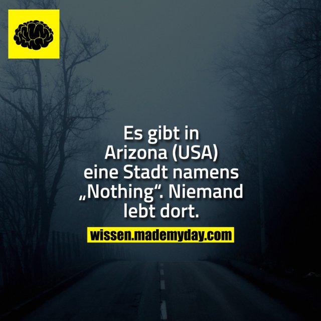 """Es gibt in Arizona (USA) eine Stadt namens """"Nothing"""". Niemand lebt dort."""