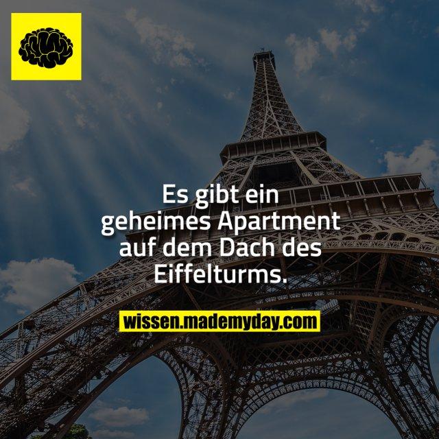 Es gibt ein geheimes Apartment auf dem Dach des Eiffelturms.