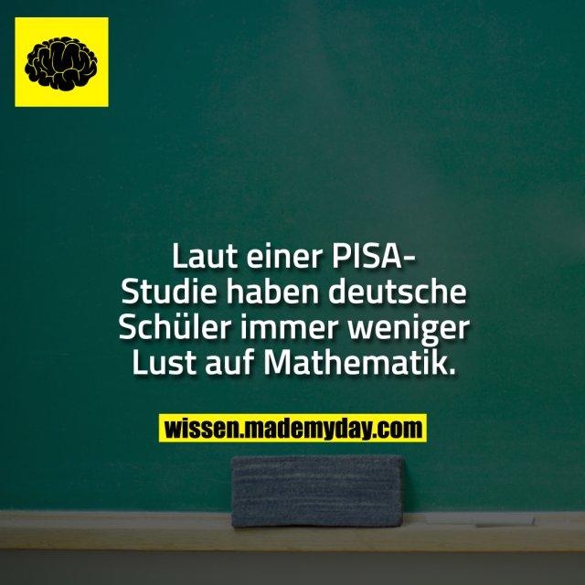 Laut einer PISA-Studie haben deutsche Schüler immer weniger Lust auf Mathematik.