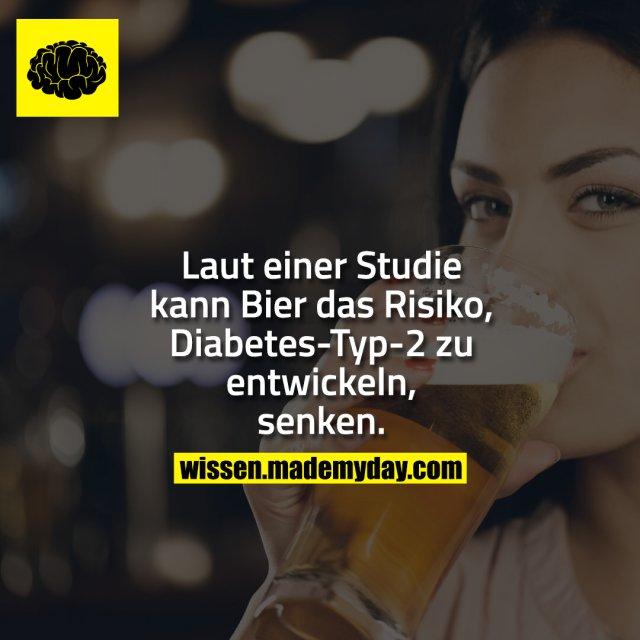Laut einer Studie kann Bier das Risiko, Diabetes-Typ-2 zu entwickeln, senken.