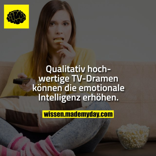 Qualitativ hochwertige TV-Dramen können die emotionale Intelligenz erhöhen.