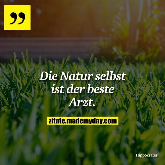 Die Natur selbst ist der beste Arzt.
