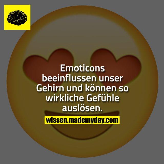 Emoticons beeinflussen unser Gehirn und können so wirkliche Gefühle auslösen.