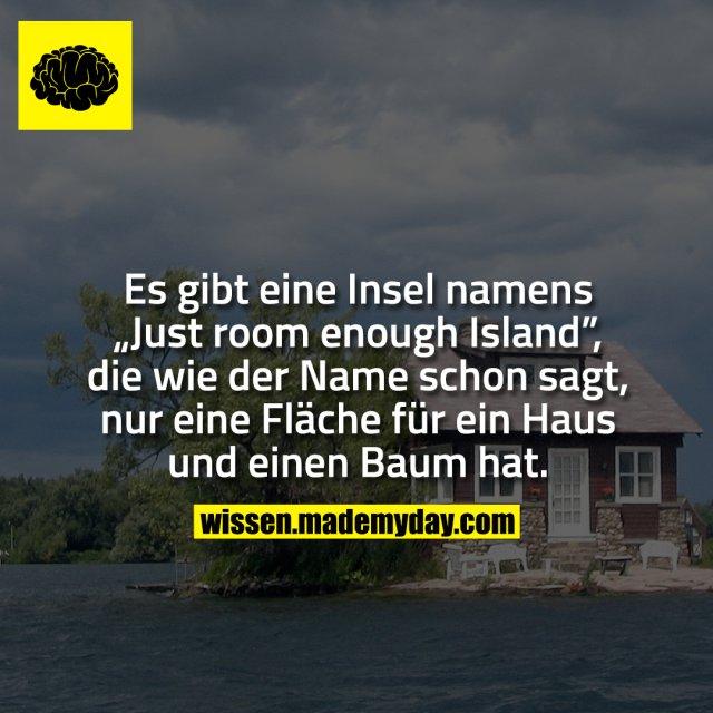 """Es gibt eine Insel namens """"Just room enough Island"""", die wie der Name schon sagt, nur eine Fläche für ein Haus und einen Baum hat."""